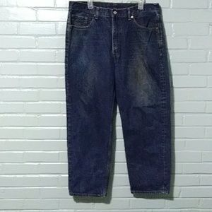 Levis 550 relaxed/straight used jeans